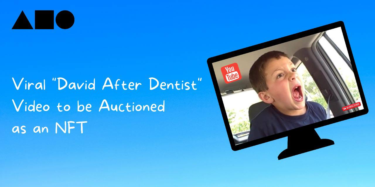 "The 2009 Viral video ""David After Dentist"" to be Auctioned as an NFT on Foundation by the YouTube Phenomena, David DeVore"