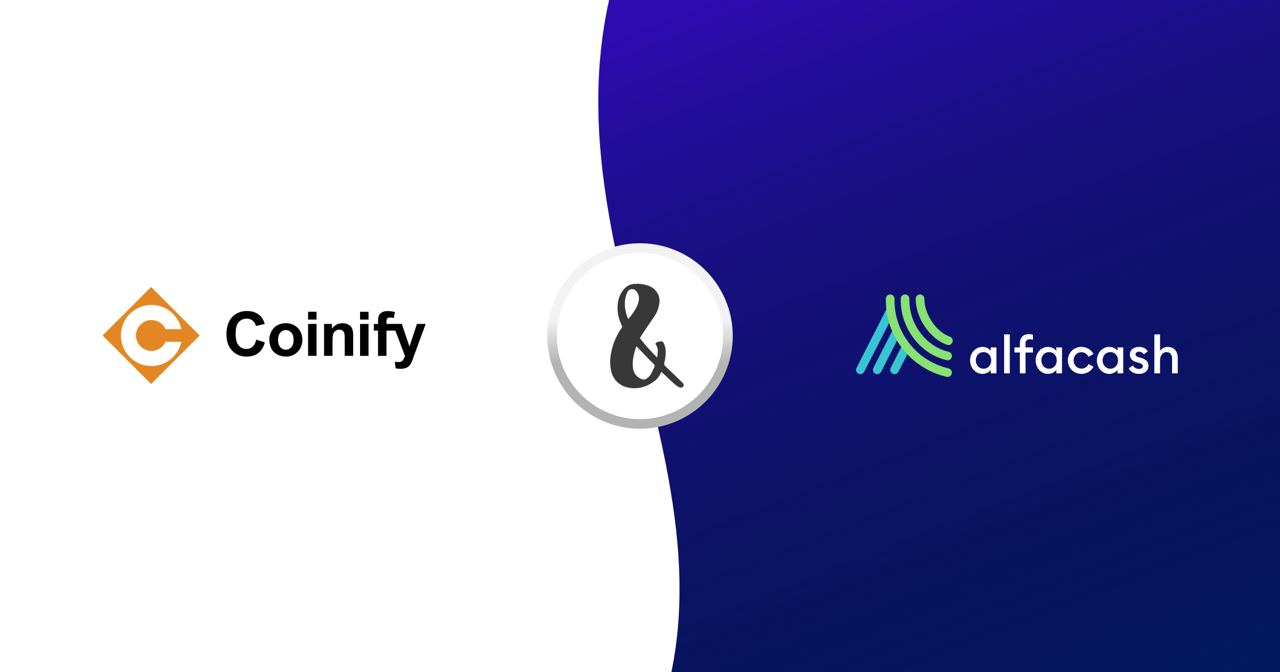 Alfacash partnered with Coinify to improve credit card options