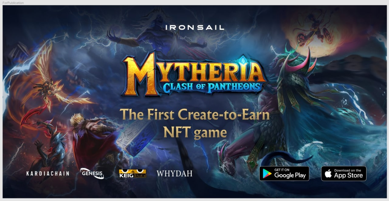 Mytheria: The First Create-To-Earn NFT Game Revolutionizing the Gaming Industry