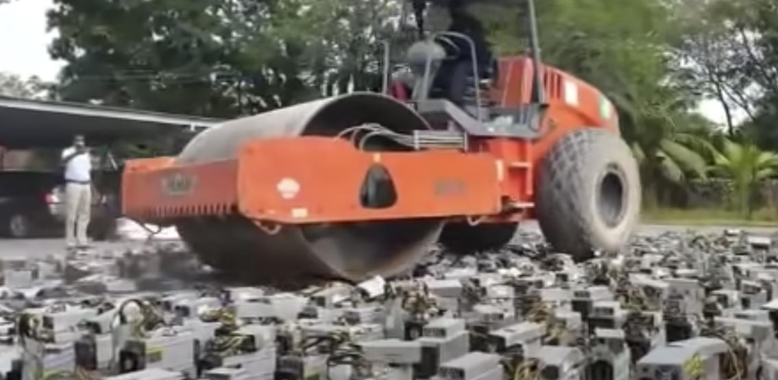 Malaysia steamrollers bitcoin mining