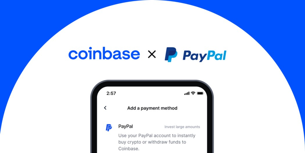 Coinbase Opens Crypto Payments Via PayPal