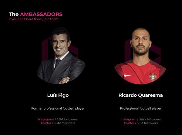 Dotmoovs Signs Luis Figo and Ricardo Quaresma As Brand Ambassadors
