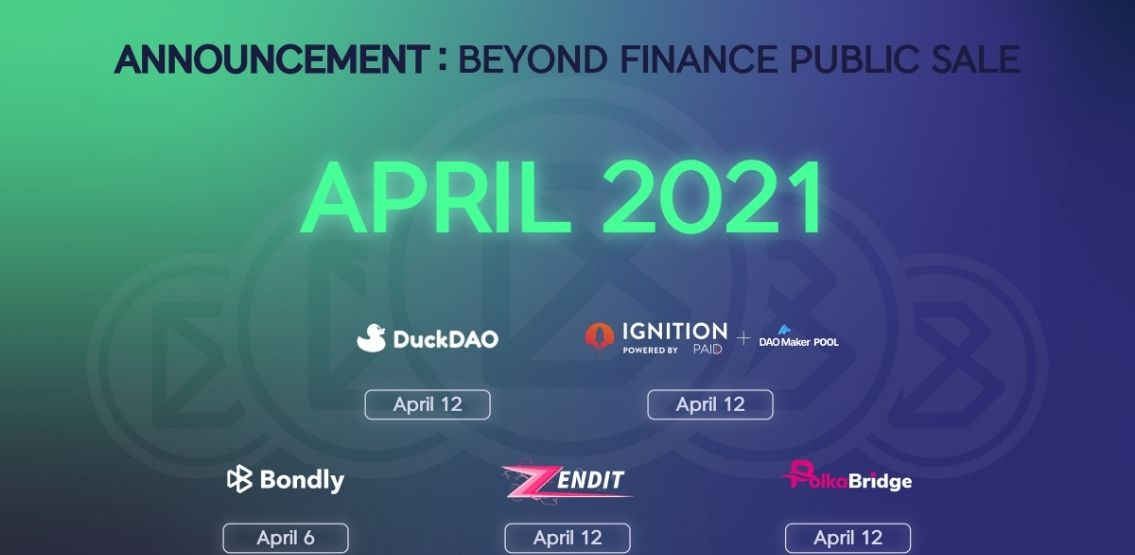 Beyond Finance Releases Its Complete List Of IDOs