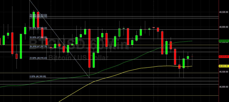 BTC/USD Briefly Trades Below 46500: Sally Ho's Technical Analysis 13 February 2021 BTC