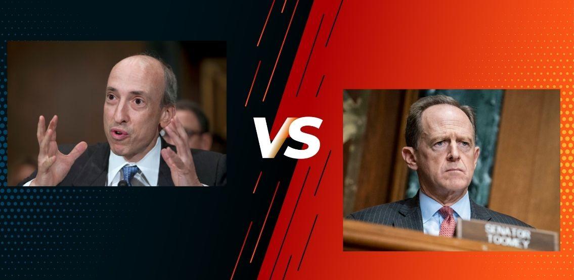SEC Chair Gary Gensler And Senator Pat Toomey Spar Over Crypto Regulations