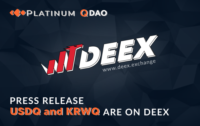 USDQ And KRWQ Are On Deex