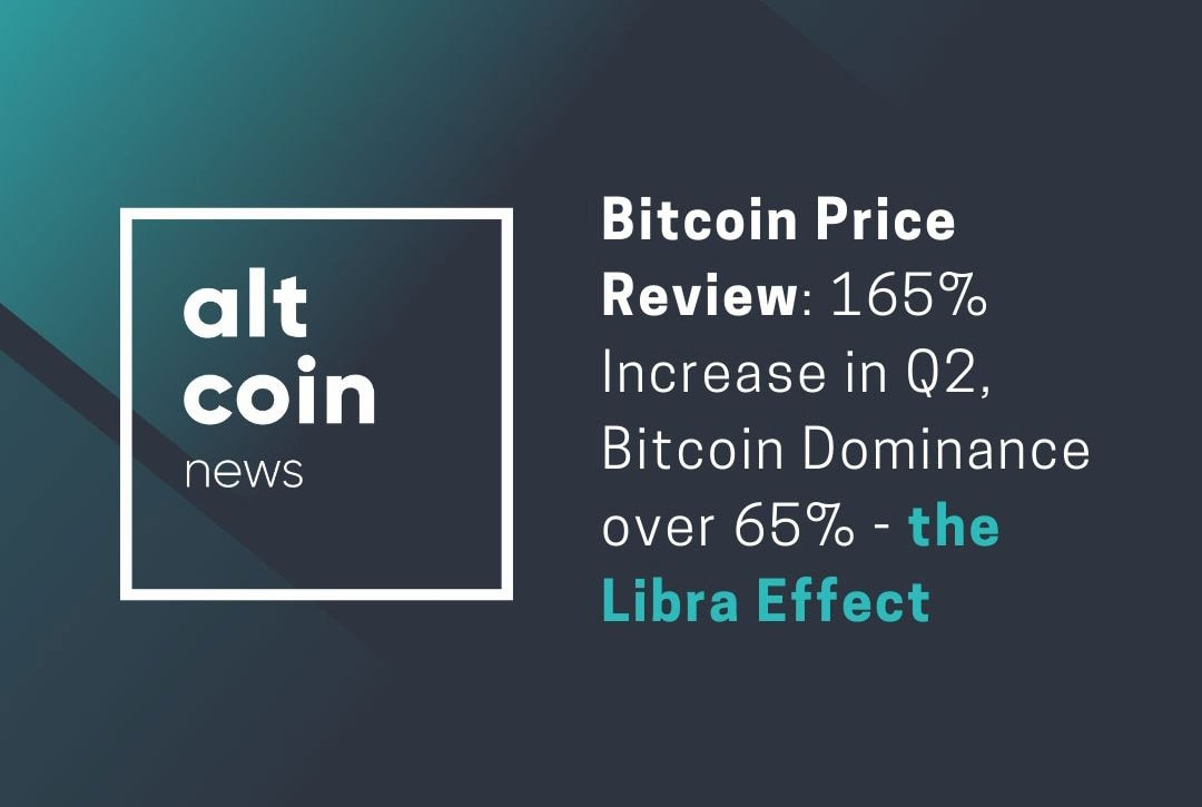 Bitcoin Price Review: 165% Increase In Q2, Bitcoin Dominance Over 65% - The Libra Effect