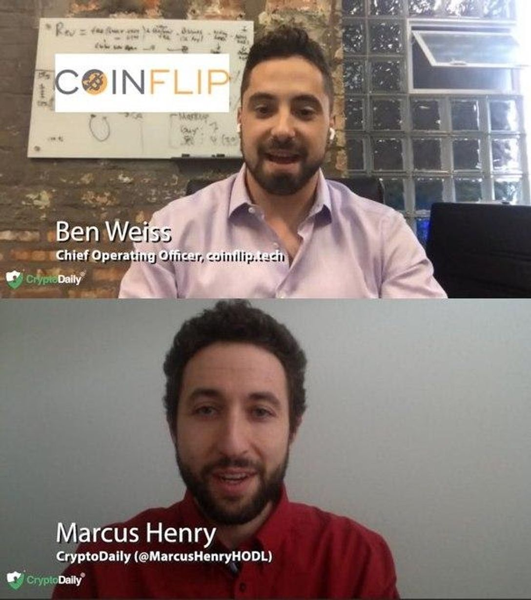 Marcus Henry Interviews CoinFlip COO Ben Weiss On Politics In The Workplace, The 2020 US Election, Crypto ATM Machines And More...