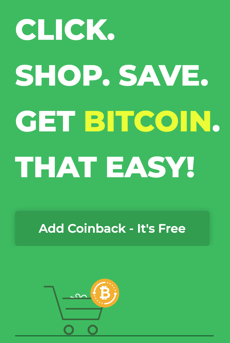 Coinback Is The Easiest Way To Passive Bitcoin Income From Your Everyday Online Shopping And The Free  In BTC To Sign Up Is Sweet!