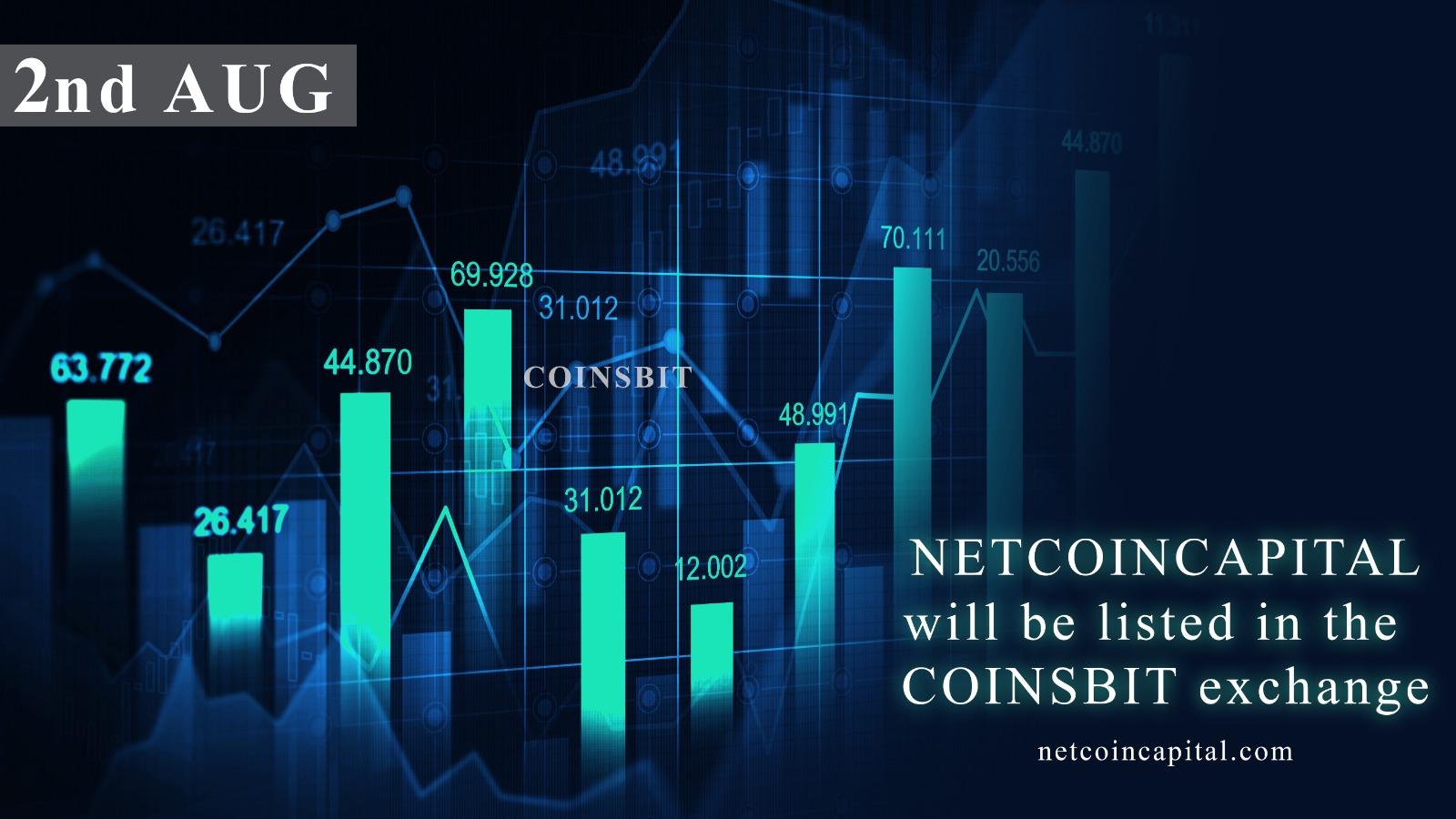 NetcoinCapital Announces to Make Their Token Tradable on Coinsbit Exchange